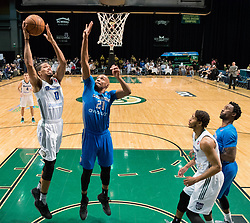March 20, 2017 - Reno, Nevada, U.S - Reno Bighorn Forward WILL DAVIS II (0) shoots against Texas Legends Guard CJ WILLIAMS (21) during the NBA D-League Basketball game between the Reno Bighorns and the Texas Legends at the Reno Events Center in Reno, Nevada. (Credit Image: © Jeff Mulvihill via ZUMA Wire)