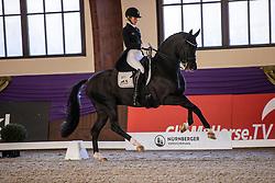 Kronberg, Gestüt Schafhof, KRONBERG _ Int. Festhallen Reitturnier Schafhof Edition 2020,<br /> <br /> FREESE Isabel (NOR), Top Gear OLD<br /> NÜRNBERGER BURG-POKAL der Dressurreiter 2020 - Einlaufprüfung <br /> Prix. St. Georges Special für 7-9j. Pferde <br /> Dressurprüfung Kl. S*<br /> <br /> 19. December 2020<br /> © www.sportfotos-lafrentz.de/Stefan Lafrentz
