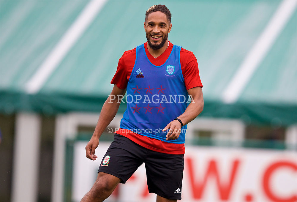 CARDIFF, WALES - Monday, September 3, 2018: Wales' captain Ashley Williams during a training session at the Vale Resort ahead of the UEFA Nations League Group Stage League B Group 4 match between Wales and Republic of Ireland. (Pic by David Rawcliffe/Propaganda)