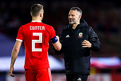 Wales head coach Ryan Giggs shakes hands with Chris Gunter of Wales - Mandatory by-line: Robbie Stephenson/JMP - 20/03/2019 - FOOTBALL - The Racecourse Ground - Wrexham, United Kingdom - Wales v Trinidad and Tobago - International Challenge Match