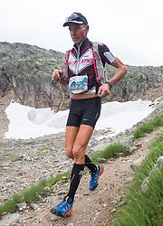 25.07.2015, Rodolfshütte, Uttendorf, AUT, Grossglockner Ultra Trail, 50 km Berglauf, im Bild Engelbert Rogl (AUT, Fusch/Kals 8. Platz bei Rudolfshütte) // Engelbert Rogl of Austria during the Grossglockner Ultra Trail 50 km Trail Run from Kals arround the Grossglockner to Kaprun. Uttendorf, Austria on 2015/07/25. EXPA Pictures © 2015, PhotoCredit: EXPA/ Johann Groder