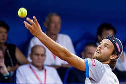 Joao Sousa (POR) during a tennis match against the Dominic Thiem (AUT) in final round of singles at 26. Konzum Croatia Open Umag 2015, on July 26, 2015, in Umag, Croatia. Photo by Urban Urbanc / Sportida