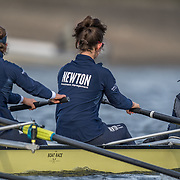 Oxford Women,, Olivia Pryer, 7 , Amelia Standing, stroke , Eleanor Shearer, cox<br /> <br /> Crews prepare for Sunday's 165th Boat Race between Oxford and Cambridge, River Thames, London, Friday 5th April 2019. © Copyright photo Steve McArthur / www.photosport.nz