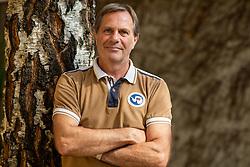 "Portrait of Peter Amersek, former Slovenian football player of NK Olimpija and Vorwärts Steyr (AUT), now owner of ""Pierrot Pub"" in Ljubljana, on September 11th, 2020. Photo by Vid Ponikvar / Sportida"