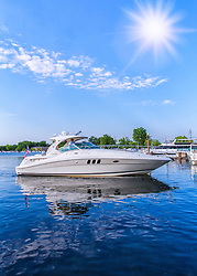 Boating on Blue Waters Under Blue Skies - Tonka Like!