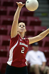 19 AUG 2006  Kristin Dziubla serving the ball..Game action took place at Redbird Arena on the campus of Illinois State University in Normal Illinois.