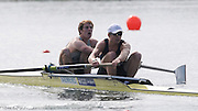 Eton, United Kingdom.  GBR M2- Bow George NASH and Constantine LOULOUDIS, morning time trial . 2011 GBRowing Trials, Dorney Lake. Saturday  16/04/2011  [Mandatory Credit; Peter Spurrier/Intersport-images] Venue For 2012 Olympic Regatta and Flat Water Canoe events.