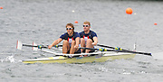 Lucerne, SWITZERLAND,GBR M2X Bow Matt WELLS and Steve ROWBOTHAM,  move away from the start, of the third round of the  2009 FISA World Cup,  on the Rottsee regatta Course, Friday  10/07/2009 [Mandatory Credit Peter Spurrier/ Intersport Images].