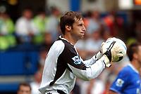 Petr Cech<br />Chelsea 2004/05<br />Chelsea V Manchester United (1-0) 15/08/04<br />The Premier League<br />Photo Robin Parker Fotosports International