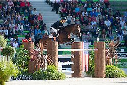 Dayro Arroyave, (COL), Eldorado vh Vijverhof - First Round Team Competition Jumping Speed - Alltech FEI World Equestrian Games™ 2014 - Normandy, France.<br /> © Hippo Foto Team - Leanjo De Koster<br /> 03-09-14