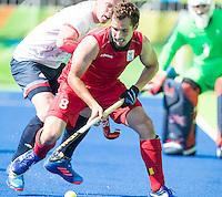 RIO DE JANEIRO  (Brazilië) -  Florent Van Aubel (Belg.) during the poulematch hockey men Belgium v Great Britain (4-1),   Olympic Games 2016 . Copyright Koen Suyk
