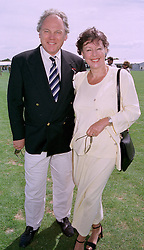 MR & MRS PETER SISSONS, he is the newsreader, at a polo match in Berkshire on 27th July 1997.MAR 14