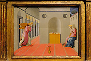 The Annunciation, by Francesco Pesellino, 1422-1457, California Palace of the Legion of Honor, fine arts museum, San Francisco, California, Lincoln ParkCalifornia Palace of the Legion of Honor, fine arts museum, San Francisco, California, Lincoln Park