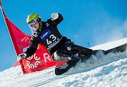 Crt Ivkovic of Slovenia competes in Qualification Run during Parallel Giant Slalom at FIS Snowboard World Cup Rogla 2015, on January 31, 2015 in Course Jasa, Rogla, Slovenia. Photo by Vid Ponikvar / Sportida