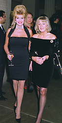 Left to right, MRS IVANA TRUMP and MRS LIZ BREWER, at an exhibition in London on 13th November 1997.MDH 49