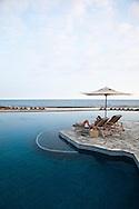 The Four Seasons Resort Hualalai at Historic Kaupulehu on the Big Island of Hawaii. The Sea Shell pool at dawn.