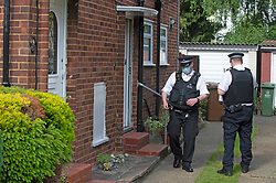 © Licensed to London News Pictures 06/06/2021. <br /> Bexleyheath, UK. Police outside the property. A man has been arrested on suspicion of murder after the body of an 89 year old woman was found dead at a property in Bexleyheath, London yesterday, police are still on scene. Photo credit:Grant Falvey/LNP