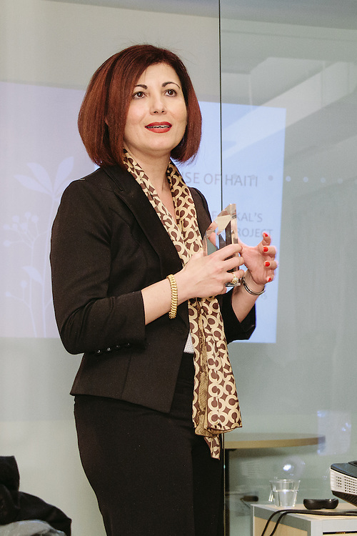 NEW YORK - March 27: Myriam Nader at FOKAL's The Promise of Haiti II Event. Photographed March 27, 2015 at the Medici Group in NY, NY. 2015 © Cat Laine.