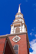 Park Street Church on the Freedom Trail, Boston, Massachusetts