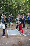 LOOKING AT THE RYAN GANDER WORK, ART TOUR, 18Documenta ( 13 ), Kassel, Germany. 14 September 2012.