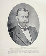 """Portrait of General U. S. Grant from The American Civil War book and Grant album : """"art immortelles"""" : a portfolio of half-tone reproductions from rare and costly photographs designed to perpetuate the memory of General Ulysses S. Grant, depicting scenes and incidents in connection with the Civil War Published  in Boston and New York by W. H. Allen in 1894"""