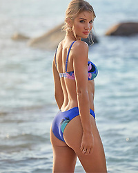 """Rosie Huntington-Whiteley releases a photo on Instagram with the following caption: """"Introducing our new \u201cMiami\u201d bikini bottoms for those who prefer a little less coverage but still the perfect amount.. #RosieSwim @marksandspencer. Link in bio to shop."""". Photo Credit: Instagram *** No USA Distribution *** For Editorial Use Only *** Not to be Published in Books or Photo Books ***  Please note: Fees charged by the agency are for the agency's services only, and do not, nor are they intended to, convey to the user any ownership of Copyright or License in the material. The agency does not claim any ownership including but not limited to Copyright or License in the attached material. By publishing this material you expressly agree to indemnify and to hold the agency and its directors, shareholders and employees harmless from any loss, claims, damages, demands, expenses (including legal fees), or any causes of action or allegation against the agency arising out of or connected in any way with publication of the material."""