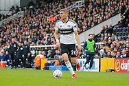Fulham defender Maxime Le Marchand (20) during The FA Cup 3rd round match between Fulham and Oldham Athletic at Craven Cottage, London, England on 6 January 2019.