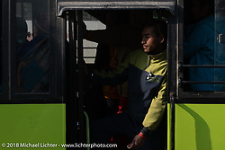 Local bus inKathmandu after our Himalayan Heroes motorcycling adventure, Nepal. Saturday, November 17, 2018. Photography ©2018 Michael Lichter.