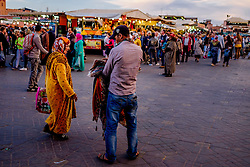 Evening in the Jemaa el Fna, Marrakech, Morocco, North Africa<br /> <br /> (c) Andrew Wilson | Edinburgh Elite media
