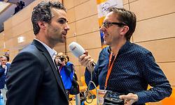 19-02-2017 NED: Bekerfinale Draisma Dynamo - Seesing Personeel Orion, Zwolle<br /> In een uitverkochte Landstede Topsporthal wint Orion met 3-1 de bekerfinale van Dynamo / Bas Hellinga en Gio Lippens NOS Radio