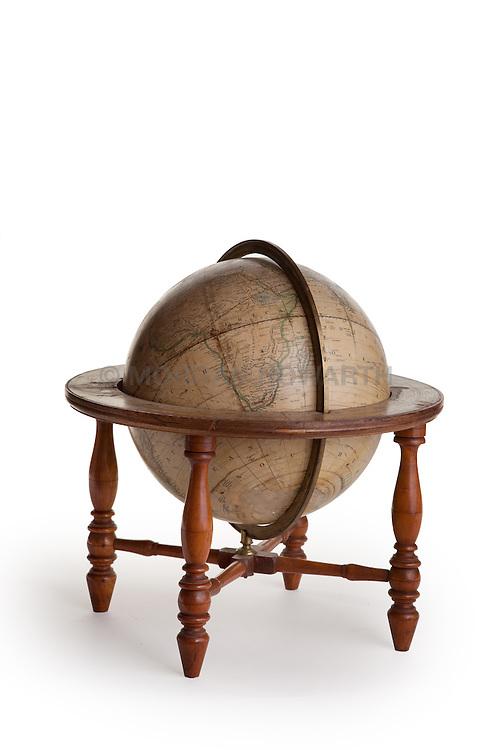 antique globe a three-dimensional scale model of Earth
