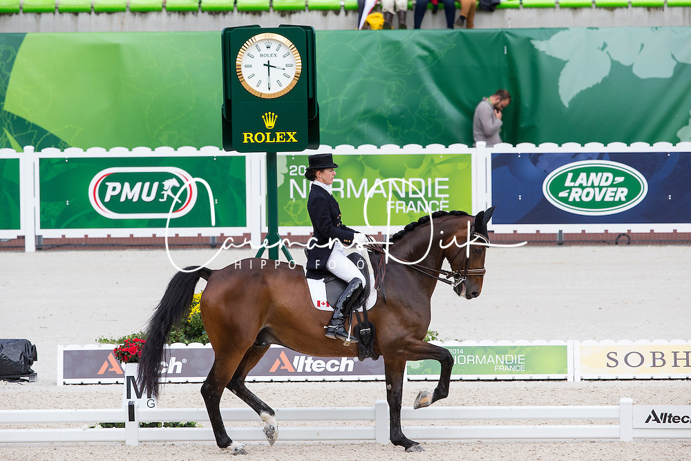 Belinda Trussel, (CAN), Anton - Grand Prix Team Competition Dressage - Alltech FEI World Equestrian Games™ 2014 - Normandy, France.<br /> © Hippo Foto Team - Leanjo de Koster<br /> 25/06/14