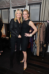 Left to right, GABY ROSLIN and ALICE KODELL at a private view of Atelier-Mayer.com's collection held at 131 Oakwood Court, London, on 24th November 2009.
