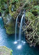 Pretty waterfall along the North Umpqua River, on the half-mile trail to Toketee Falls, Oregon, USA.