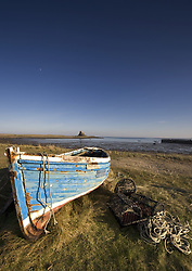 July 21, 2019 - Weathered Fishing Boat On Shore, Holy Island, Bewick, England (Credit Image: © John Short/Design Pics via ZUMA Wire)