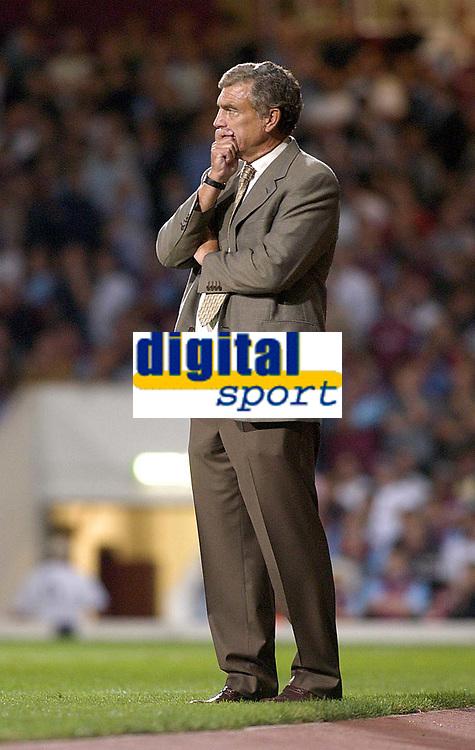 Photo. Glyn Thomas<br />West Ham Utd v Bradford City. Nationwide Division 1.<br />Upton Park, West Ham, London. 26/08/2003.<br />West Ham's caretaker manager Trevor Brooking is in pensive mood despite his side's 1-0 win.
