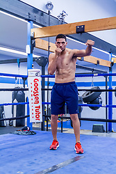 Rancho Cucamonga, California/USA (Tuesday, Nov 12 2013) - Super middleweight Edwin Rodriguez (24-0, 16 KOs) works out during the Ward vs Rodriguez Media Workout at the Warzone Boxing Club in Rancho Cucamonga, CA USA. He is facing Andre Ward (26-0, 14 KOs) at the Citizens Business Bank Arena in Ontario, California. The Ward-Rodriguez bout will be televised live on HBO at 9:30PM PST. PHOTO © SILVEXPHOTO.COM.