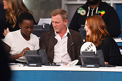 "Celebrities at the ""Hand to hand"" telethon in Times square, New York City. 12 Sep 2017 Pictured: Lupita Nyong'o, Daniel Craig, Julianne Moore. Photo credit: MEGA TheMegaAgency.com +1 888 505 6342"