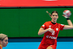 Marta Gega of Poland during the Women's EHF Euro 2020 match between Poland and Romania at Sydbank Arena on december 05, 2020 in Kolding, Denmark (Photo by RHF Agency/Ronald Hoogendoorn)