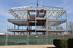 West Elevation. Central Connecticut State University. New Academic Building. Project No: BI-RC-324. Architect: Burt Hill Kosar Rittelmann Associates. Contractor: Gilbane, Inc.