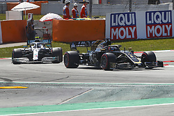 May 11, 2019 - Barcelona, Catalonia, Spain - Haas Ferrari driver Romain Grosjean (8) of France and Mercedes driver Valtteri Bottas (77) of Finland during F1 Grand Prix qualifying celebrated at Circuit of Barcelona 11th May 2019 in Barcelona, Spain. (Credit Image: © Mikel Trigueros/NurPhoto via ZUMA Press)