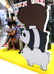 August 17, 2017 - Beijing, Beijing, China - Beijing, CHINA-16th August 2017: (EDITORIAL USE ONLY. CHINA OUT) The 'We Bare Bears' Exhibition is held at Raffles City Shopping Centre in Beijing, featuring adorable bear sculptures. (Credit Image: © SIPA Asia via ZUMA Wire)