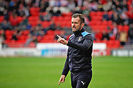 Luton Town manager Nathan Jones during the EFL Sky Bet League 1 match between Doncaster Rovers and Luton Town at the Keepmoat Stadium, Doncaster, England on 8 September 2018.