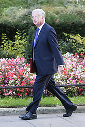 Downing Street, London, October 11th 2016. Government ministers arrive for the first post-conference cabinet meeting. PICTURED: Defence Secretary Michael Fallon