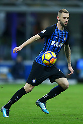 January 21, 2018 - Milan, Italy - Marcelo Brozovic of Internazionale  during the Serie A match between FC Internazionale and AS Roma at Stadio Giuseppe Meazza on January 21, 2018 in Milan, Italy. (Credit Image: © Matteo Ciambelli/NurPhoto via ZUMA Press)