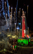 """Holiday Season & Independence Day Celebration combined. Since 1971, the City of Baltimore has held the annual """"Lighting of the Washington Monument"""" on the first Thursday in December. At Mount Vernon Place, the holiday season begins with fireworks!"""