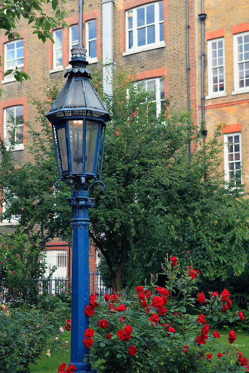 Blue Gas Lamp - London, UK