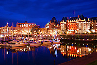 Victoria Harbour & Empress Hotel, Blue Hour