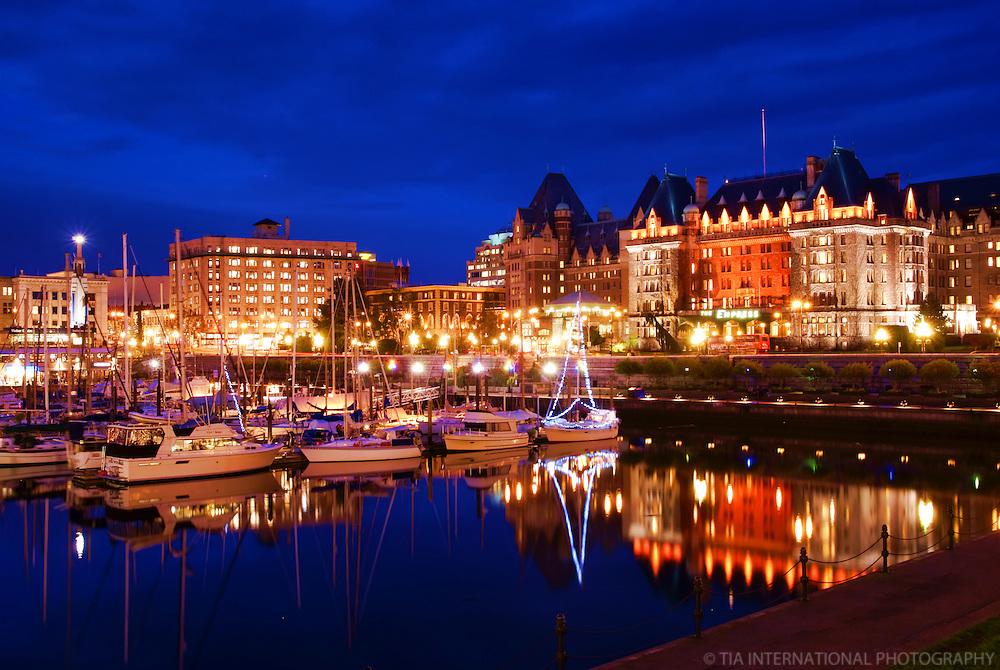 Victoria Harbour & Empress Hotel, Blue Hour