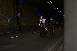 Hannah Barnes (CANYON//SRAM Racing) speeds through the Emmen tunnel at Ronde van Drenthe 2017. A 152 km road race on March 11th 2017, starting and finishing in Hoogeveen, Netherlands. (Photo by Sean Robinson/Velofocus)